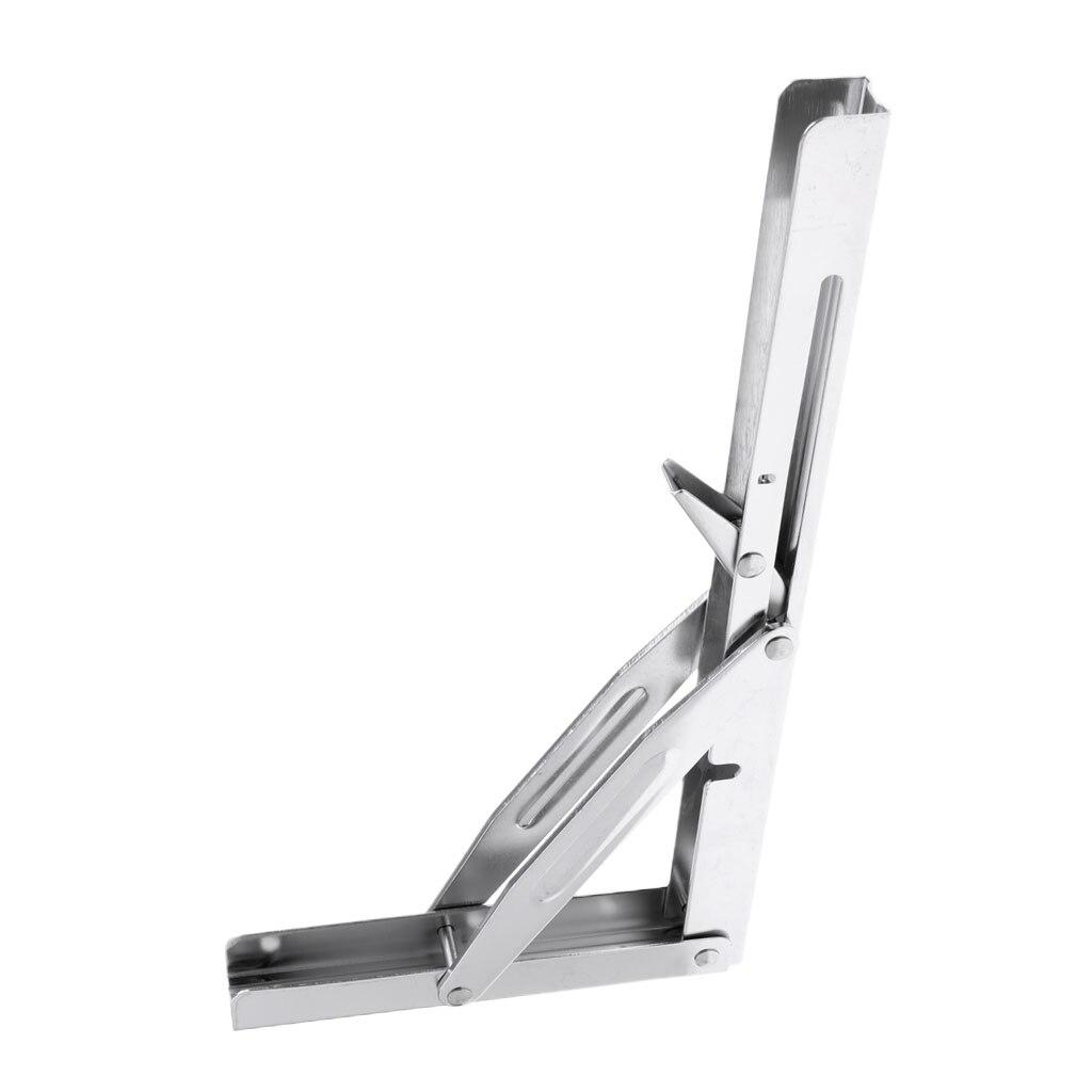 Universal Folding Bench Shelf Bracket Polished Caravan Marine Table Bracket