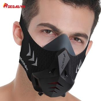 FDBRO-PRO Sport Maske Mit Filter Baumwolle Klimaanlage Ausbildung Maske Sauerstoff Ausbildung Maske