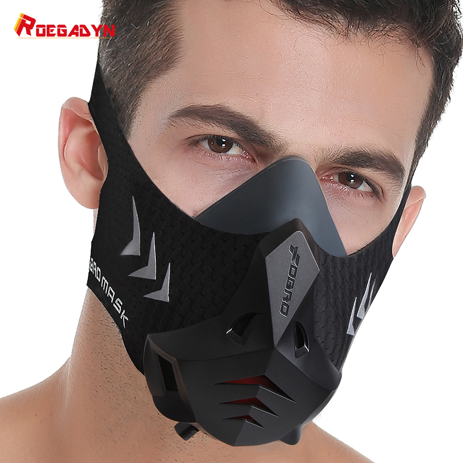 FDBRO-PRO Sports Mask With Filter Cotton Conditioning Training Mask Oxygen Training Mask