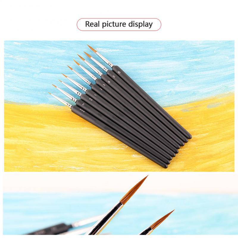 9 pçs set Pintura Nylon Escova Gel