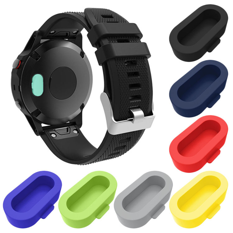 Silicone Dust Protective Caps For Garmin Fenix 5 5x 5S Plus Forerunner 935 Wristband Port Resistant For Vivoactive 3 SmartWatch