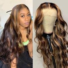 Mstoxic ombre onda do corpo peruca dianteira do laço t parte peruca do laço do cabelo humano para as mulheres negras brasileiro frente do laço perucas de cabelo humano remy