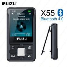 Новый портативный спортивный Bluetooth MP3 8 Гб цветной экран RUIZU X55 с зажимом поддерживает TFcard, FM, HD запись, функциональный музыкальный плеер