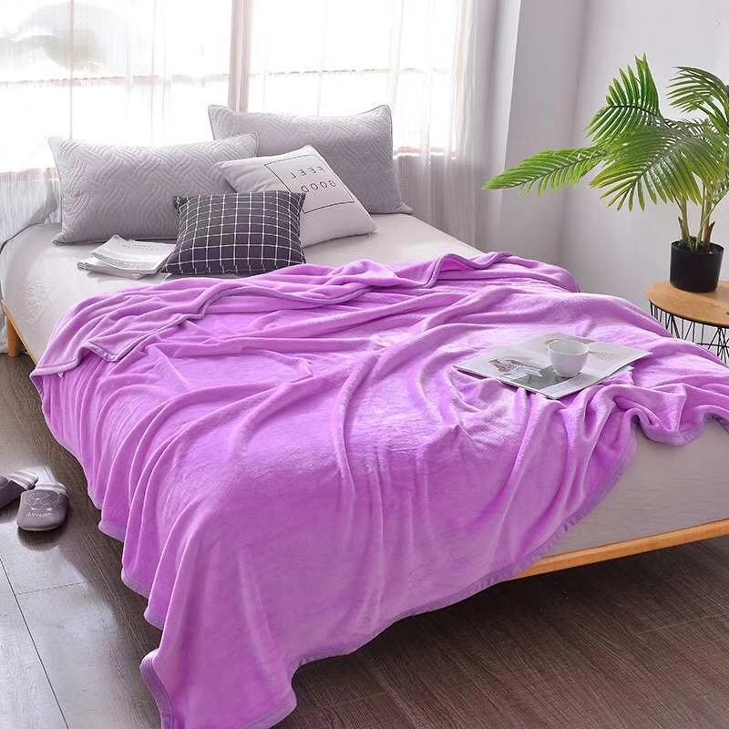 Light Thin Mechanical Wash flannel Blanket Plaids super warm soft blankets throw on Sofa/Bed/ Travel patchwork solid Bedspread-2