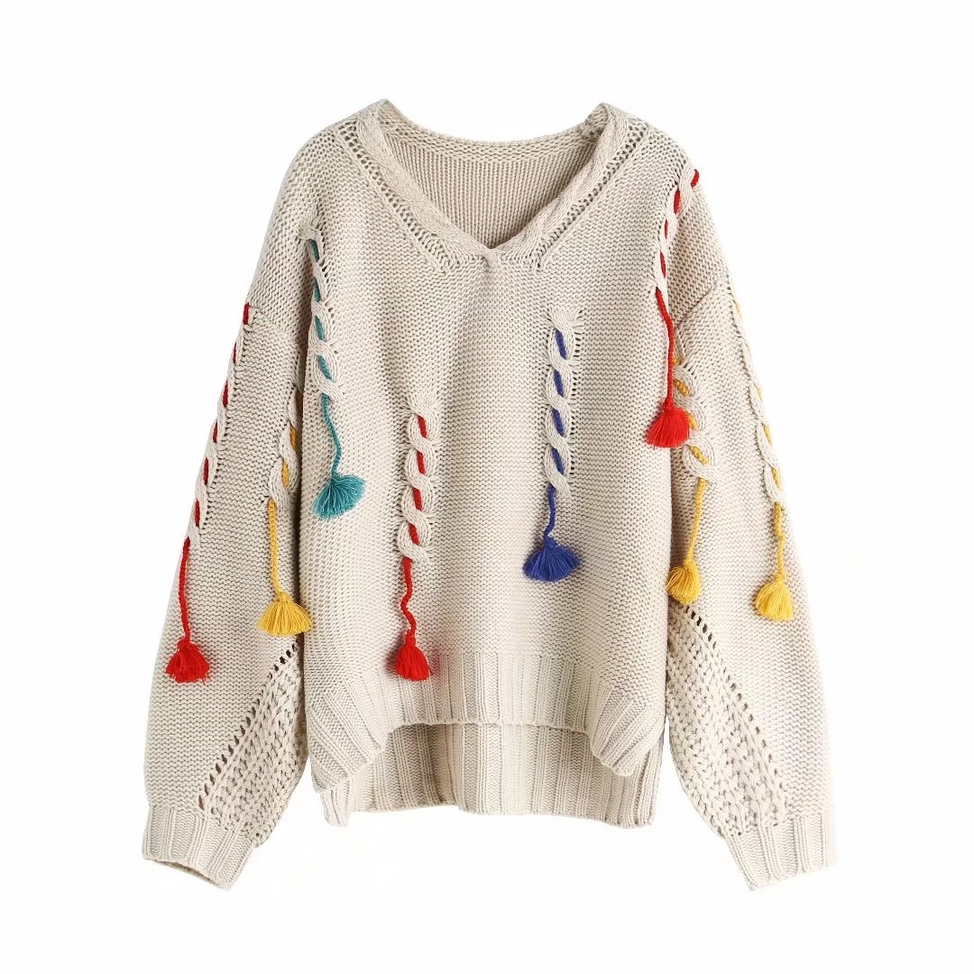 Autumn and Winter 19 Korean Women's Sweater Tassel Pullover Knit Sweater Women Sweaters and Pullovers Winter Clothes Women 2