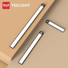Nova yeelight sensor de luz noturna led inteligente barra luz indução movimento humano recarregável gabinete corredor lâmpadas parede lâmpada do armário