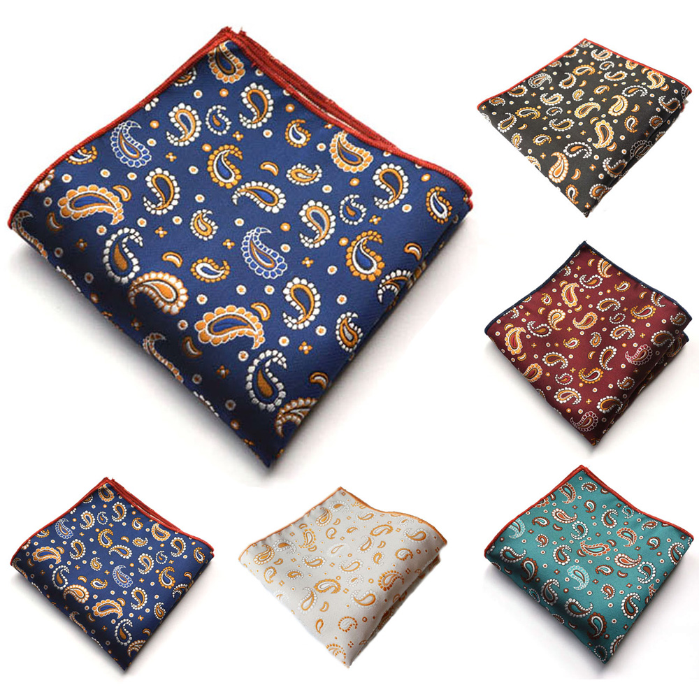 Men High Grade Handkerchief Paisley Pattern Business Pocket Square Wedding Hanky BWTYX0330