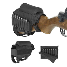 Tactical Cartridges Rifle Ammo Pouch Holder Rifle Airsoft Bullet Buttstock Cheek Rest Shooting Pad Ammo Holder Case Pouch hunting gun accessories adjustable rifle shotgun tactical buttstock cheek rest shooting pad ammo case cartridges holder pouch