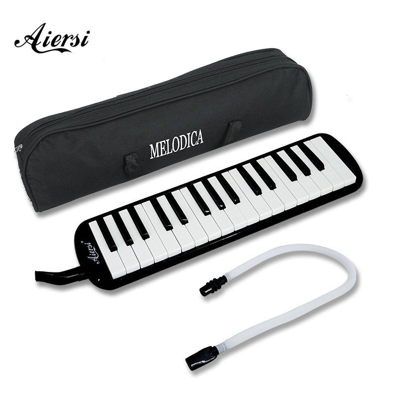 Aiersi <font><b>32</b></font> <font><b>Key</b></font> <font><b>Melodica</b></font> Piano Style Melodic Keyboard Musical Accordions Instrument with Carrying Bag Strap Mouthpiece image