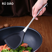 цена на High Quality Stainless Steel Kitchen Tools Nylon Handle Spatula Fried Shovel Egg Fish Frying Pan Scoop Spatula Cooking Utensils