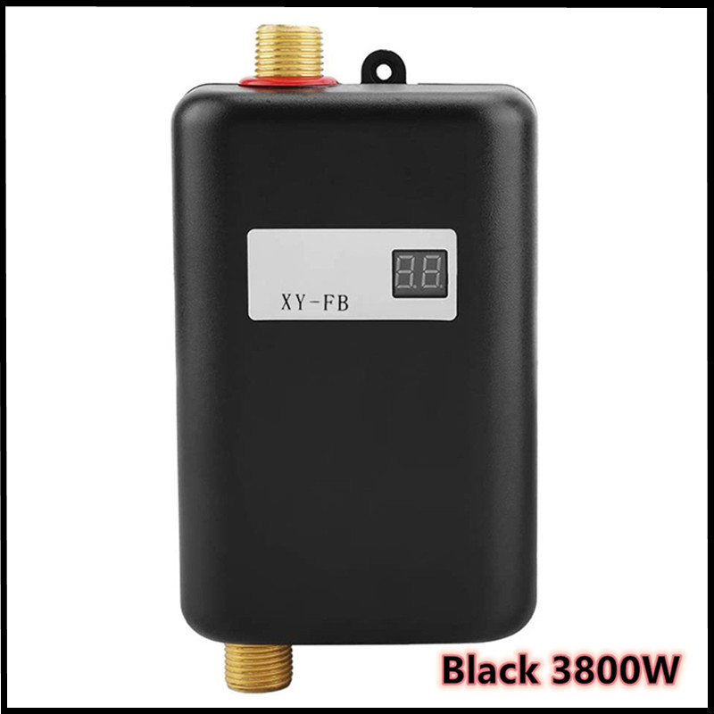 3800W Household Electric Water Heater Instant Tankless Water Heater 3800W 110V/220V Temperature Display Bathroom Hot Shower