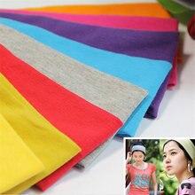 Tiara de algodão para mulheres, 1 peça, elástica, para yoga, para absorção de suor, cores pastéis, acessórios esportivos de cabelo
