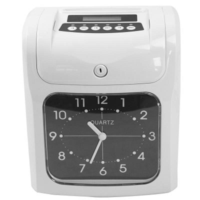 Bilgisayar ve Ofis'ten Kronometre'de Elektronik çalışan zaman saati kaydedici katılım zaman kart makinesi ofisi fabrika depo zaman kayıt title=