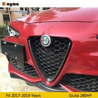 Front bumper Grilles V Frame Decoration Cover Trim Stickers Styling 100% Carbon Fiber For Alfa Romeo Giulia 280HP sport bumper