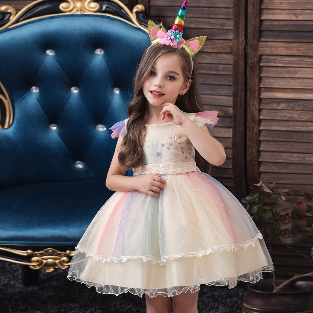 BH-	756A#Children's wear Flower girl dress Champagne short Ball Gown Lace Children's Day Christmas Costume party prom dress chea