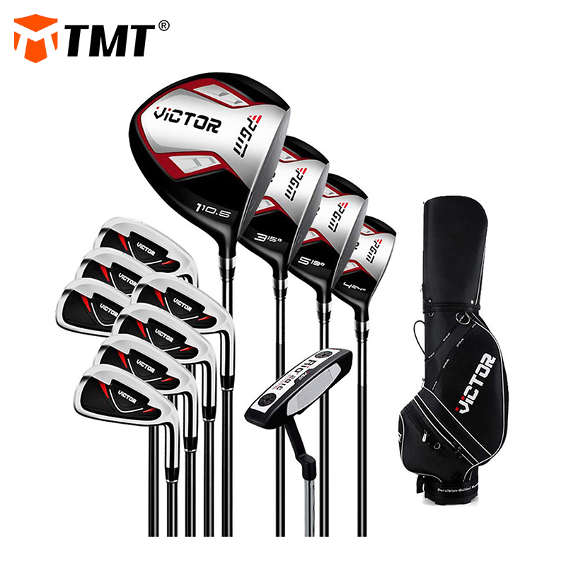 12 Piece Golf Clubs Complete Set for Men & Women Includes Titanium Driver 3 & #5 Fairway Woods 4 Hybrid 5-SW Irons Putter and Bag