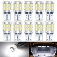 10 шт., светодиодные лампы T10 W5W Canbus для салона автомобиля