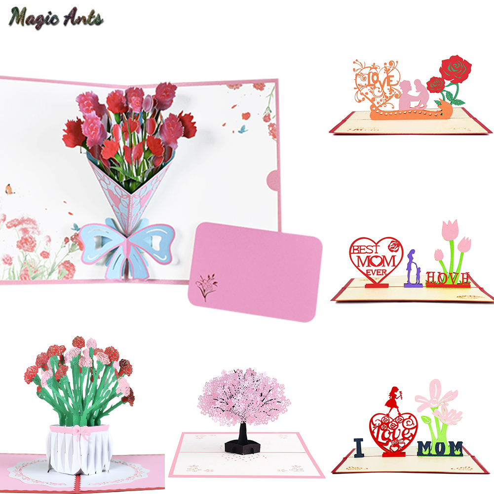 Miraculous 3D Pop Up Cards Mothers Day Gifts Card I Love Mom Carnation Funny Birthday Cards Online Fluifree Goldxyz