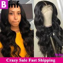 360 Kant Frontale Pruik Body Wave Pre Geplukt Met Baby Hair10 24 Inches Remy Haar Braziliaanse 360 Lace Pruik Kleur 1B voor Vrouwen