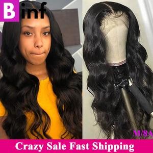 Image 1 - 360, парик на сетке с передней частью, волнистые волосы, предварительно выщипанные детскими искусственными волосами, бразильский парик на сетке 360, цвет 1B для женщин