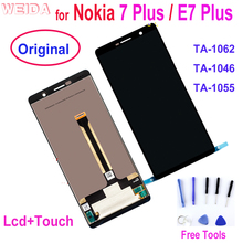 Original LCD for Nokia 7 Plus LCD 7Plus Display Touch Screen TA-1062 LCD Digitizer Assembly Replacment for Nokia E7 Plus LCD
