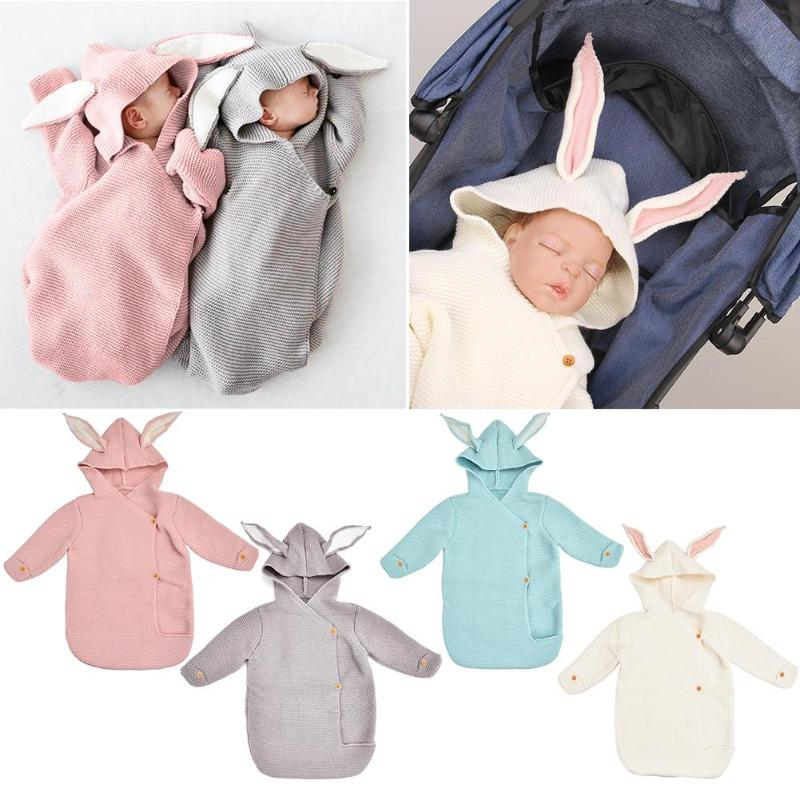 Cartoon Winter Baby Infant Rabbit Ear Sleeping Bag Stroller Blanket For Newborn Compliance With Ergonomic Design Comfort
