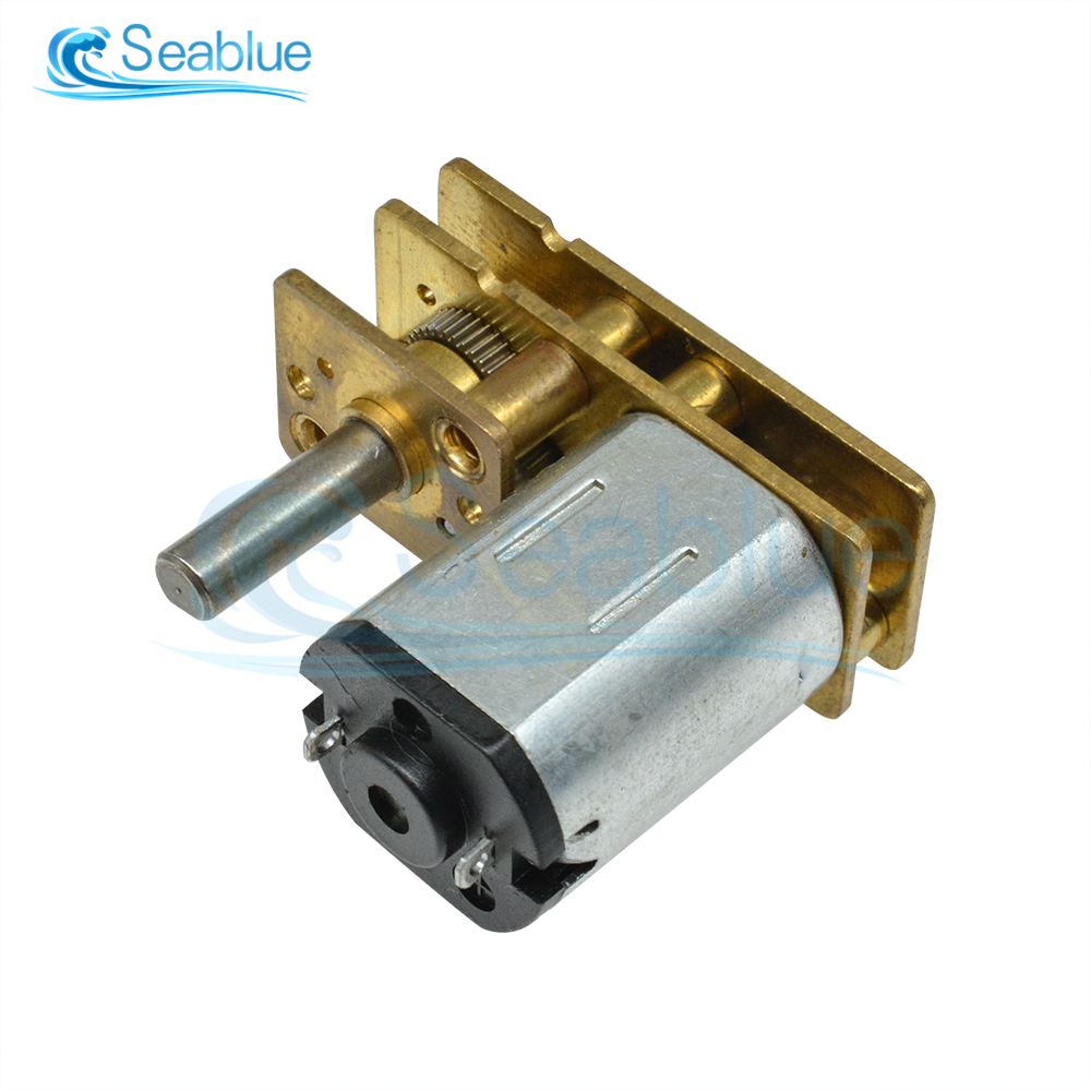 GA1024-N20 <font><b>DC</b></font> <font><b>3V</b></font> 6V 12V Micro Speed Gear <font><b>Motor</b></font> Reduction Metal Gearbox 10 15 20 30 40 50 60 100 150 200 300 400 500 600 1000RPM image