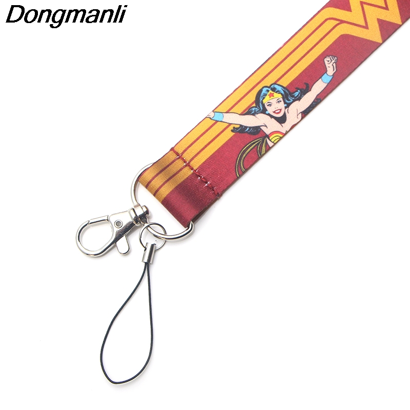 Image 4 - PC164 Wholesale 20pcs/ lot Super Woman Keychain Lanyards Id Badge