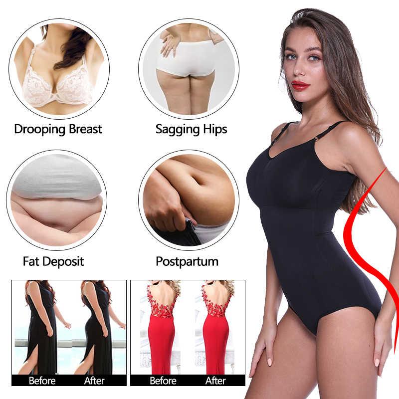 Mulheres shaper corpo inteiro com decote em v topos de verão cintura trainer bunda levantador bodysuits pós-parto shapewear emagrecimento roupa interior