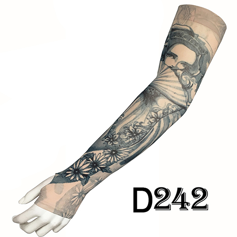 Fashion Tattoo Sleeves Arm Warmer Outdoor Temporary Fake Tattoo Warmer Sleeve Mangas Unisex UV Protection Arm Sleeve
