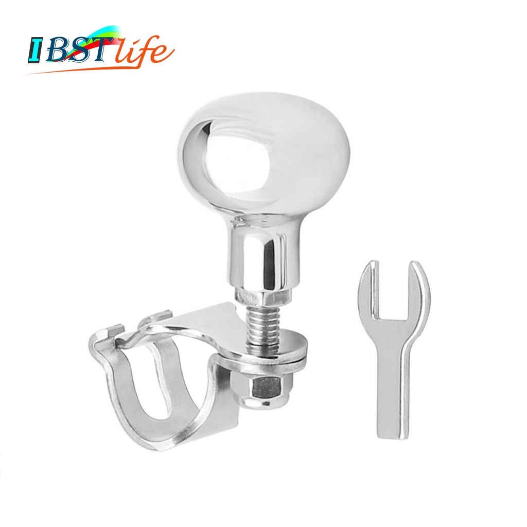 Stainless Steel 316 Steering Wheel Power Handle Ball Grip Knob Turning Helper Hand Control For Marine Boat Yacht