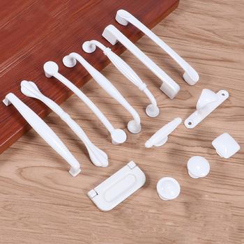 Europejskiej kość słoniowa uchwyt do szafki uchwyt szuflady amerykańska prosta moda kość słoniowa buty uchwyt drzwiczek szafki tanie i dobre opinie OLOEY Maszyny do obróbki drewna Aluminium CN (pochodzenie) 101-301 Meble uchwyt i pokrętła 64mm Aluminum Alloy 1 pc white