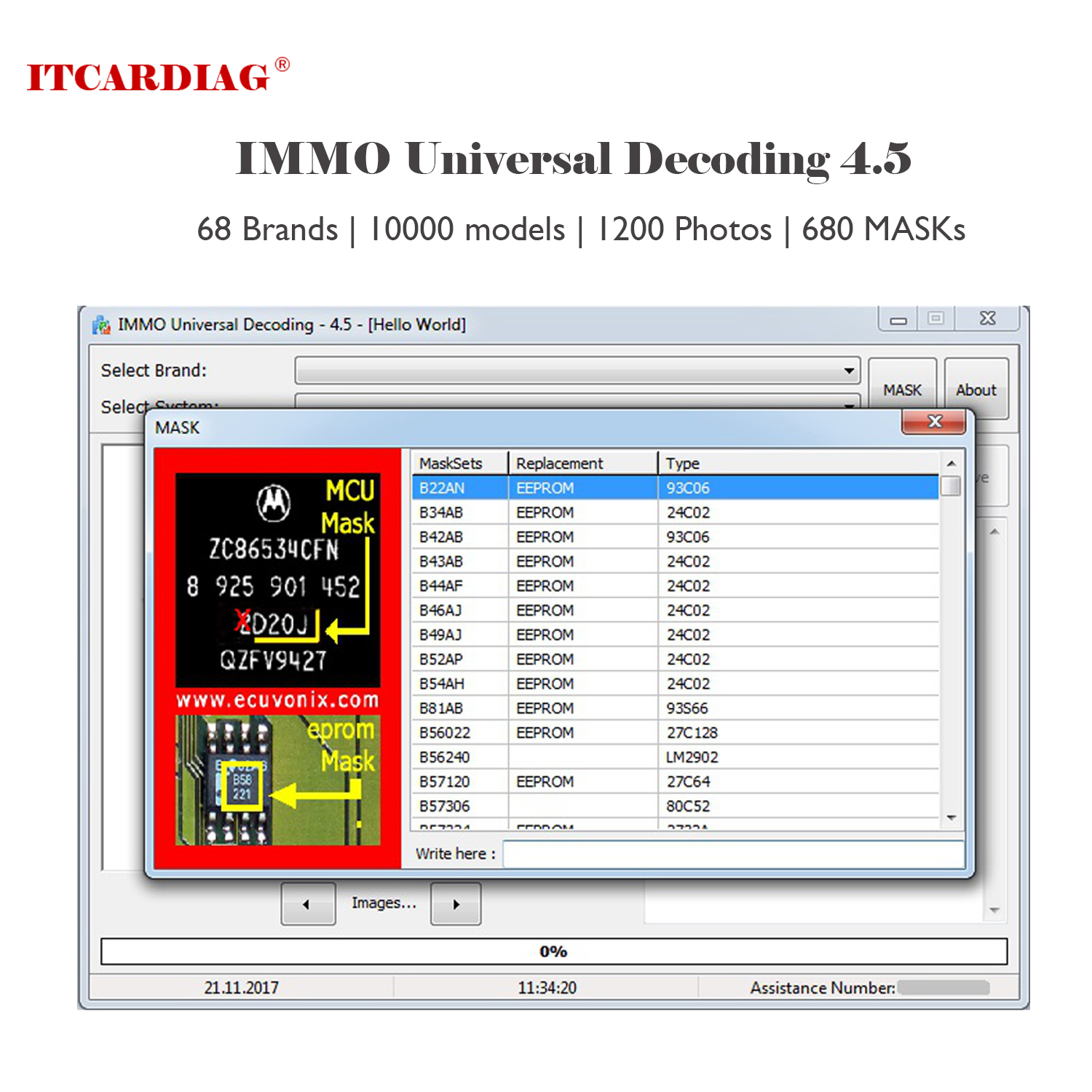 IMMO Universal Decoding 4.5 IMMO Off Software Remove IMMO Code Of ECU Repair IMMO Code 1100 Compatible Systems Above 10000 Model