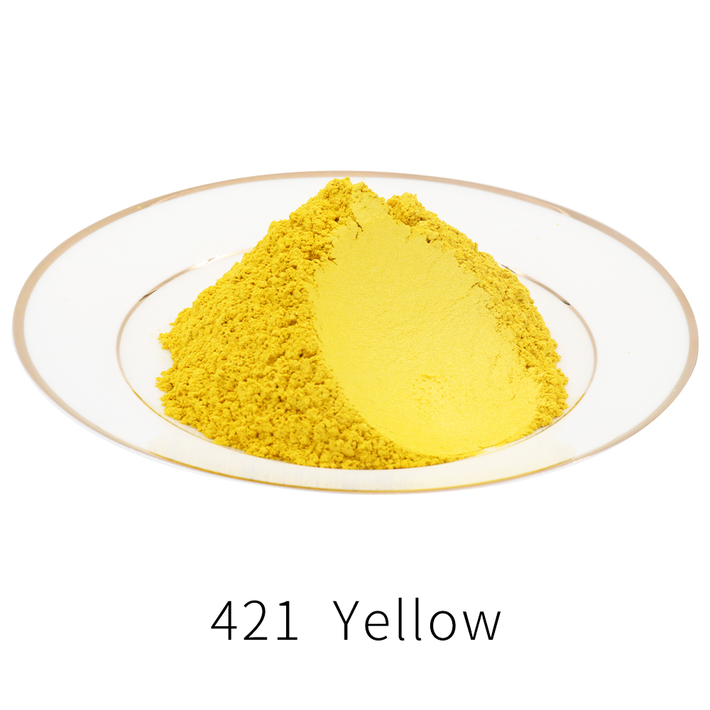 Yellow Pearl Powder Pigment Mineral Mica Powder Dye Colorant For Soap Automotive Art Crafts 50g Type 421 Acrylic Paint Powder