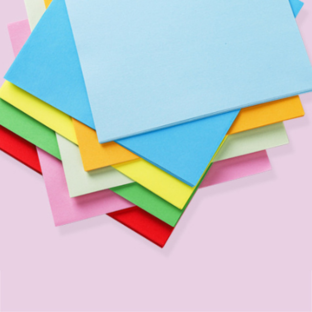 100 Sheets/pack Square Origami Gift Packaging paper Double Sides Paper Pure Wood Pulp DIY Handmade Folding Paper 4