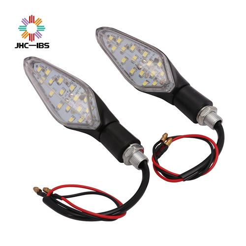 Motorcycle New 2pcs 12V Universal LED Turn Signal Light Indicators Blinker White Light Flashers Lighting Accessories