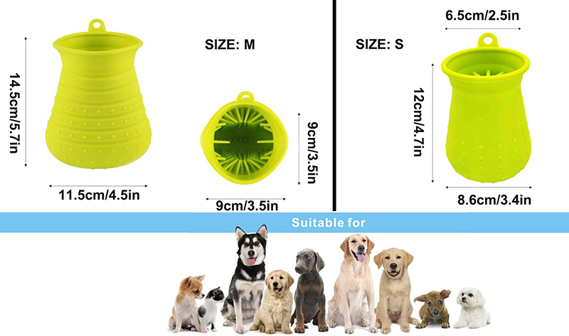 Benepaw Dog Paw Cleaner Shower Brush 2 In 1 Portable Soft Silicone Pet Foot Washer Effectively Cleaning Cup Puppy Cats Massage 8
