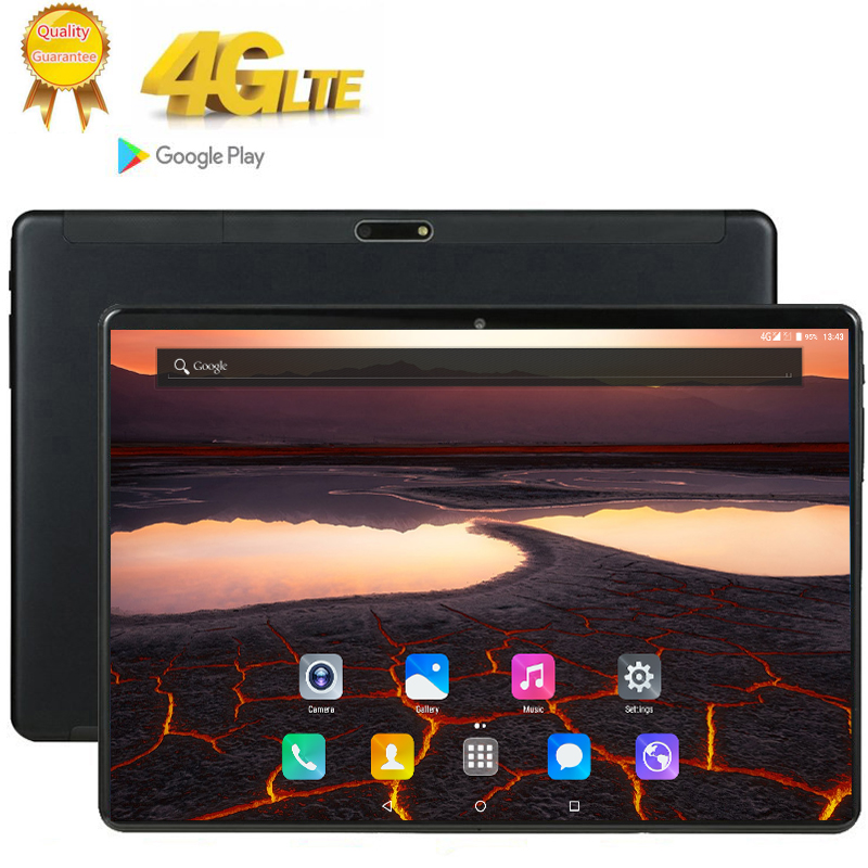 10 Inch Glass Screen Tablet Deca Ten 10 Core 8GB 128GB ROM Dual SIM Card 4G LTE 13.0 MP GPS Android 9.0 Google IPS The Tablet Pc