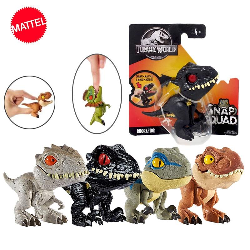 Figura de Ação Dinossauro jurássico Mundo Mini Dedos Junta Móvel Modelo de Simulação Brinquedos para As Crianças Coleção Figma Animar
