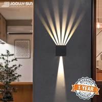 Joaaysun applique da parete per esterni decorazione applique balcone impermeabile apparecchi di illuminazione a LED applique moderne angolo regolabile