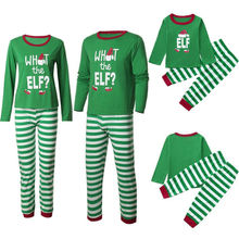 Christmas Family Pajamas Set Xmas Clothes Parent-child Suit Home Elf Sleepwear Nightwear Kids Dad Mom Matching Family Outfits brand new family matching outfits christmas pajamas set xmas family matching pajamas adult women kids sleepwear nightwear e0301