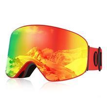 OUTAD Double couches lunettes de Ski UV400 Anti-buée Protection lunettes Sports de plein air patinage Ski lunettes neige Snowboard lunettes
