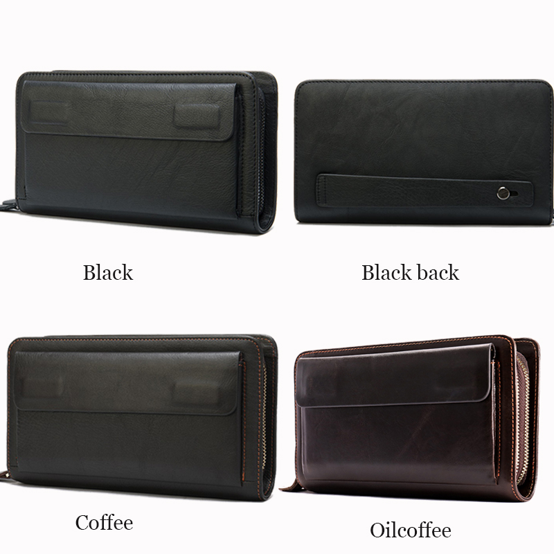 Image 3 - WESTAL Mens Wallet Genuine Leather Clutch Male Mens Clutch Bag Double Zip Wallet Leather Men Long Wallets Purse Money Bag 9069male pursemen purseclutch bag men -