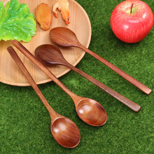Soup Spoons Stirring Long-Handle Mixing Kitchen Portable Utensi Home 4pcs Eating Eco-Friendly