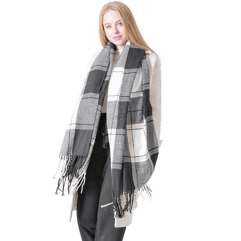 Autumn And Winter New Style England College Style BOY'S And GIRL'S Couples Plaid Scarf Air Conditioner Shawl Tonglu
