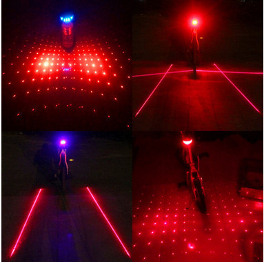 Bicycle Laser Taillights Mountain Bike 5led Warning Light/Bicycle Riding Equipment Accessories