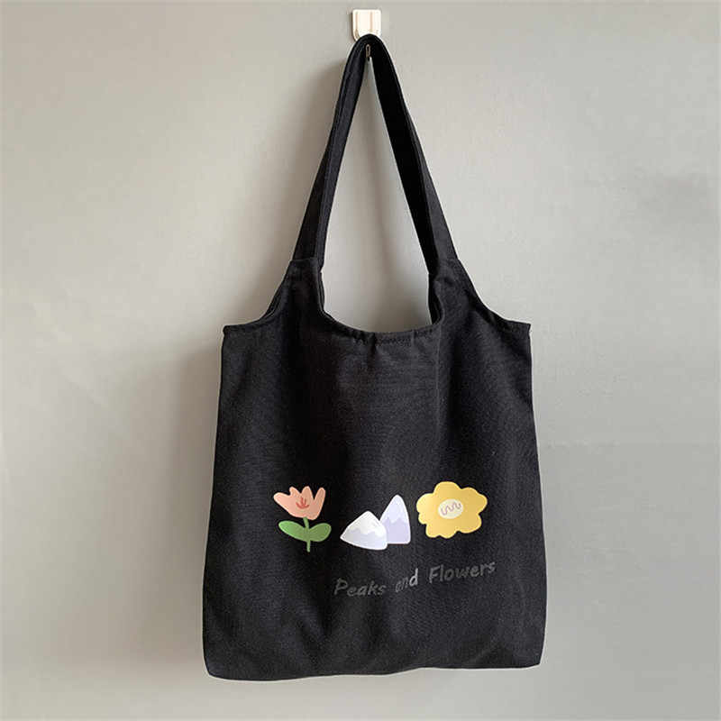 2020 kobiet jednolity kolor na ramię torby torba na zakupy pakiet toreb na zakupy torebki na co dzień torebka kwiat Student Bookbag duży rozmiar