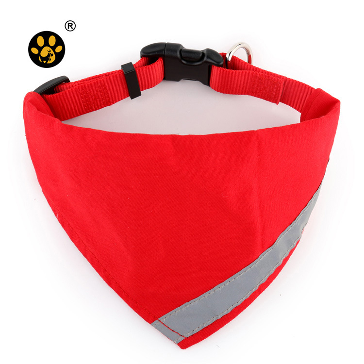 Nylon Dog Collar Hot Selling Reflective Tactical Pet Triangular Scarf Neck Ring Pet's Saliva Towel