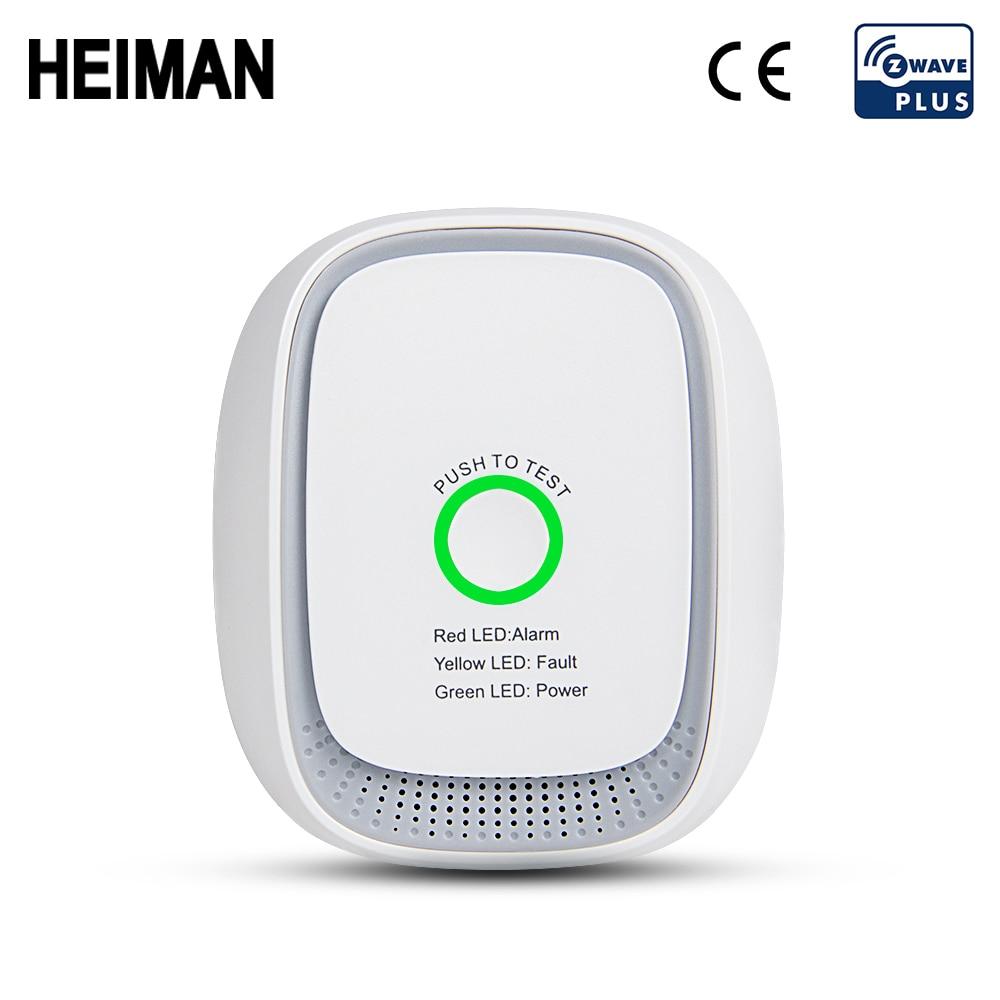 HEIMAN Zwave GAS Lpg Leak Detector Z Wave Fire Security Alarm System Safety Z-wave Smart Home Leakage Sensor