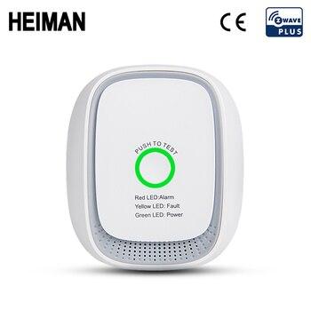 цена на HEIMAN Zwave GAS lpg leak detector Z wave Fire Security Alarm system safety Z-wave Smart home Leakage sensor